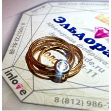 Кольцо Cartier из комбинированного золота