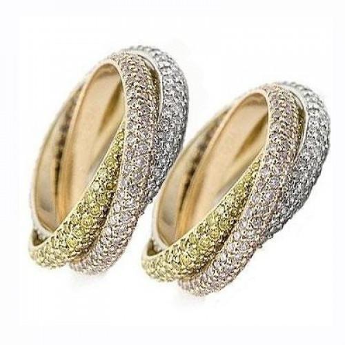 Кольцо из комбинированного золота c бриллиантами