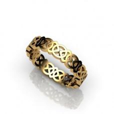 Кольцо из розового золота..