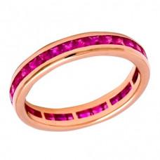 Кольцо из розового золота с рубинами..