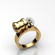 """Кольцо """"BVLGARI"""" из комбинированного золота с бриллиантом"""