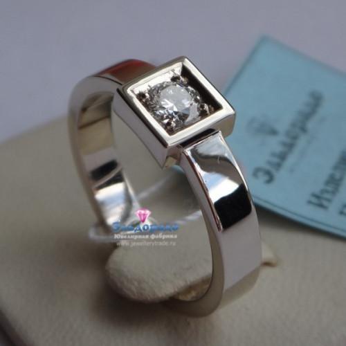 Кольцо из белого золота с Овальным бриллиантом