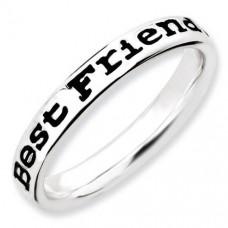 Кольцо из белого золота с эмалью..