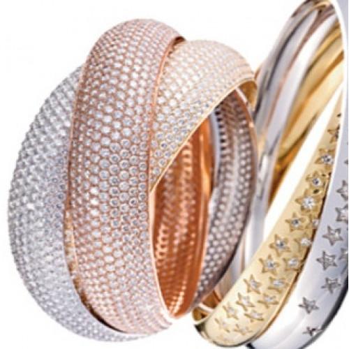 """Кольцо """"Cartier"""" из комбинированного золота c бриллиантами"""