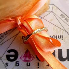 """Кольцо для предложения """"Переплетение линий"""" из красного золота с бриллиантами"""