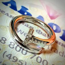 """Кольцо для предложения """"Гвоздь"""" с бриллиантами"""