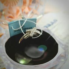 Эксклюзивное кольцо из белого золота  с бриллиантами