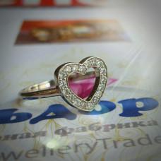 Эксклюзивное кольцо из белого золота  с кругом из бриллиантов
