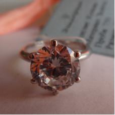 Классическое помолвочное кольцо с бриллиантом в 1 ct, из белого золота 750 пробы