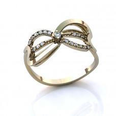 Кольцо 'Бант' из белого золота с бриллиантами