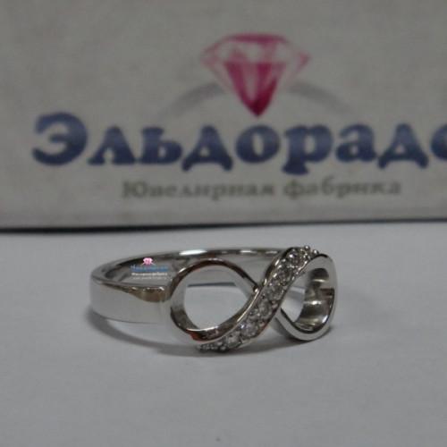 """Кольцо """"Бесконечность"""" из белого золота с бриллиантами"""