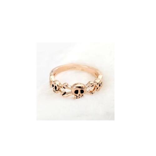 Кольцо 'Черепа' из красного золота