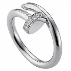 Кольцо 'Гвоздь' из белого золота с бриллиантами