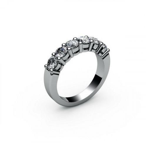 Кольцо из белого с золота с бриллиантами