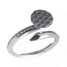 Кольцо из белого золота 'Гвоздь'