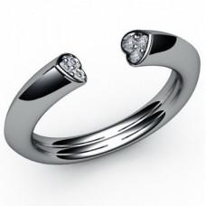 Кольцо из белого золота с бриллиантами..
