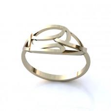Кольцо из белого золота в виде узора