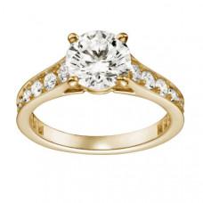 Кольцо из желтого с золота с бриллиантами