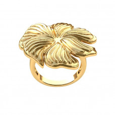 Кольцо из желтого золота 'Цветок'