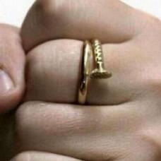 Кольцо из желтого золота 'Гвоздь'