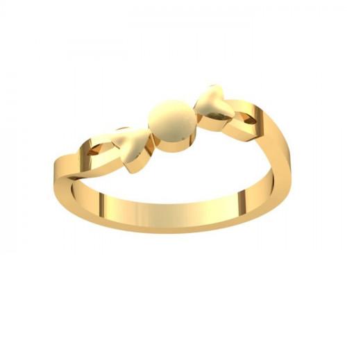Кольцо из желтого золота 'Конфетка'