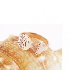 Кольцо из желтого золота 'Рыбка'