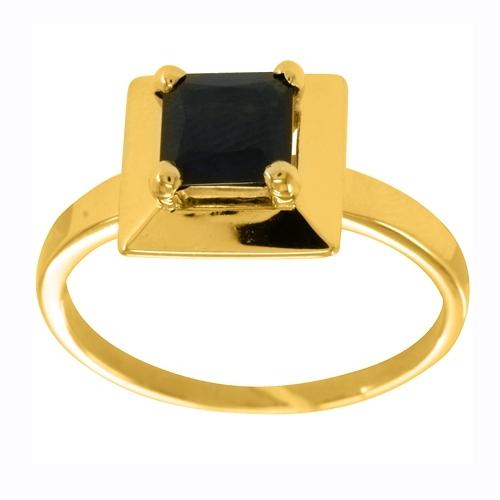 Кольцо из желтого золота с агатом