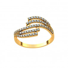 Кольцо из желтого золота с бриллиантами..