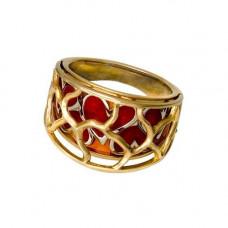 Кольцо из желтого золота с эмалью..