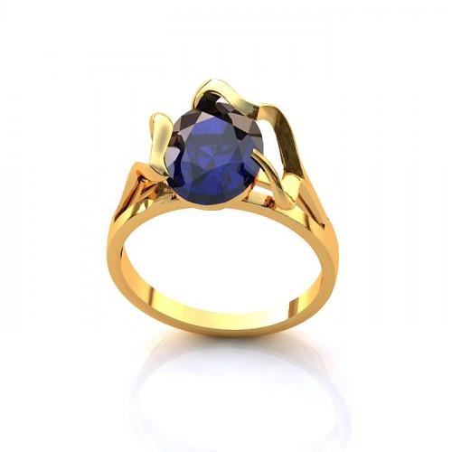 Кольцо из желтого золота с сапфиром