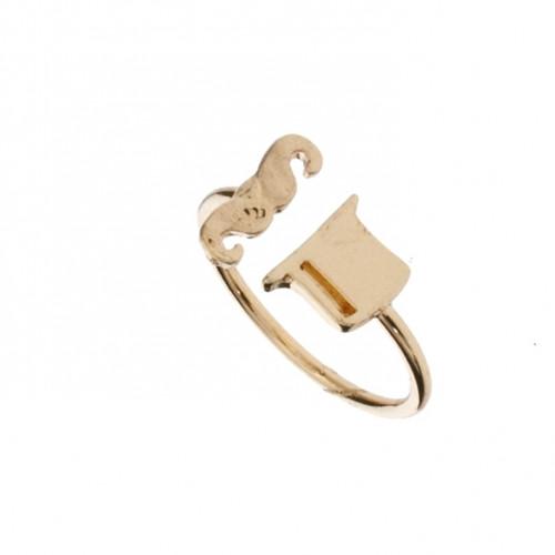 Кольцо из желтого золота 'Усы'