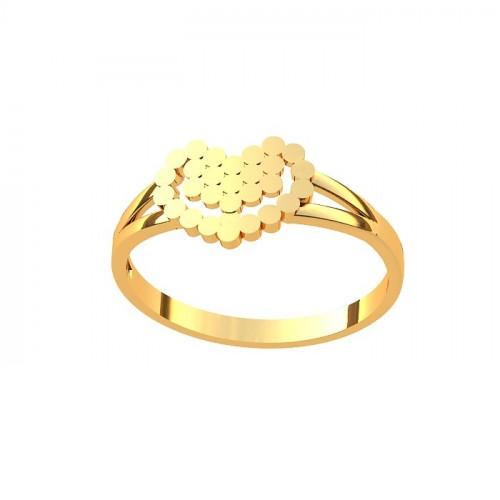 Кольцо из желтого золота в форме сердца