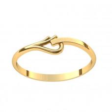 Кольцо из желтого золота в форме узора..