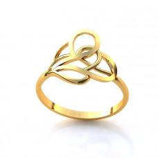 Кольцо из желтого золота в форме узора