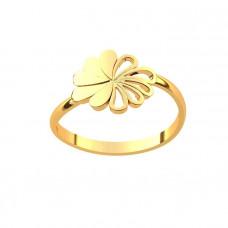 Кольцо из желтого золота в 'Ромашка'