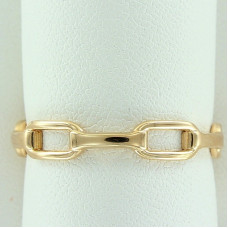 Кольцо из желтого золота в виде цепочки..