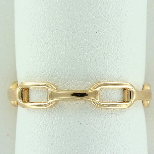 Кольцо из желтого золота в виде цепочки