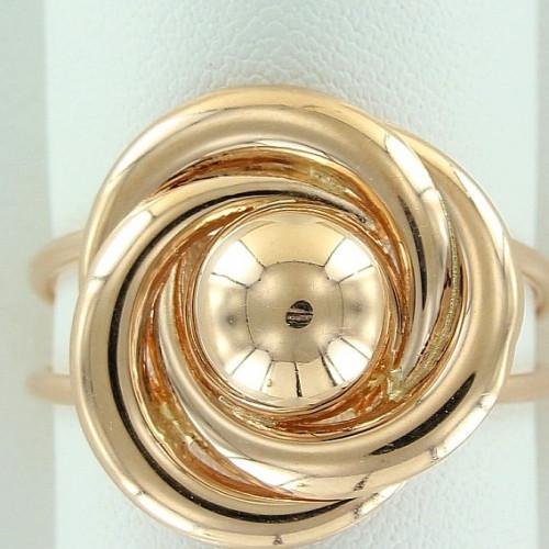 Кольцо из желтого золота в виде цветка