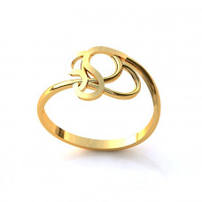Кольцо из желтого золота в виде узора..