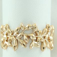 Кольцо из желтого золота 'Веточка'..