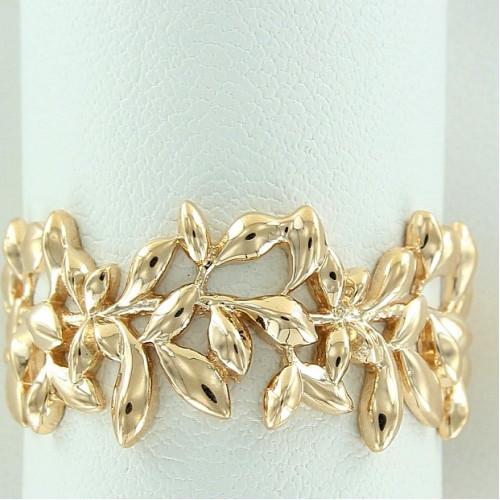 Кольцо из желтого золота 'Веточка'