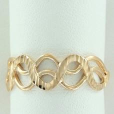 Кольцо из желтого золота 'Волна'