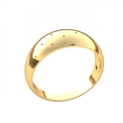 Кольцо из желтого золота выпуклое