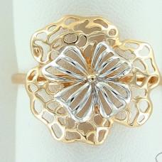 Кольцо из комбинированного золота 'Цветок'..