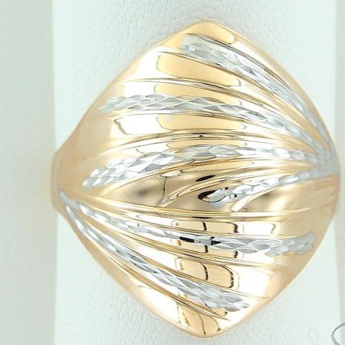 Кольцо из комбинированного золота 'Ромб'