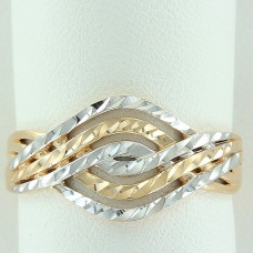 Кольцо из комбинированного золота..