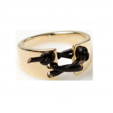 Кольцо из красного золота 'Корсет'