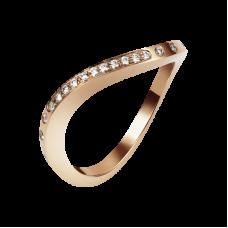 Кольцо из красного золота с бриллиантами..
