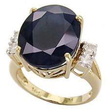 Кольцо с сапфиром и бриллиантами..