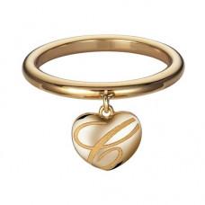 Кольцо 'Сердечко' из желтого золота